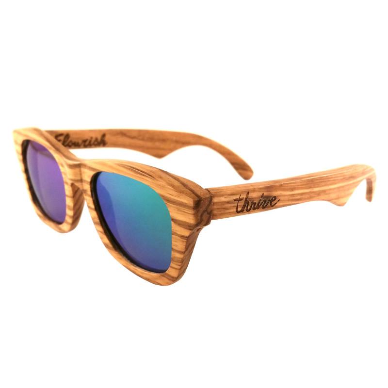 Wood Frame Polarized Sunglasses